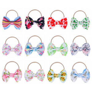 Knotted-Baby-Big-Bow-Headband-Knotted-Nylon-Hairband-Elastic-Turban-Head-Wraps
