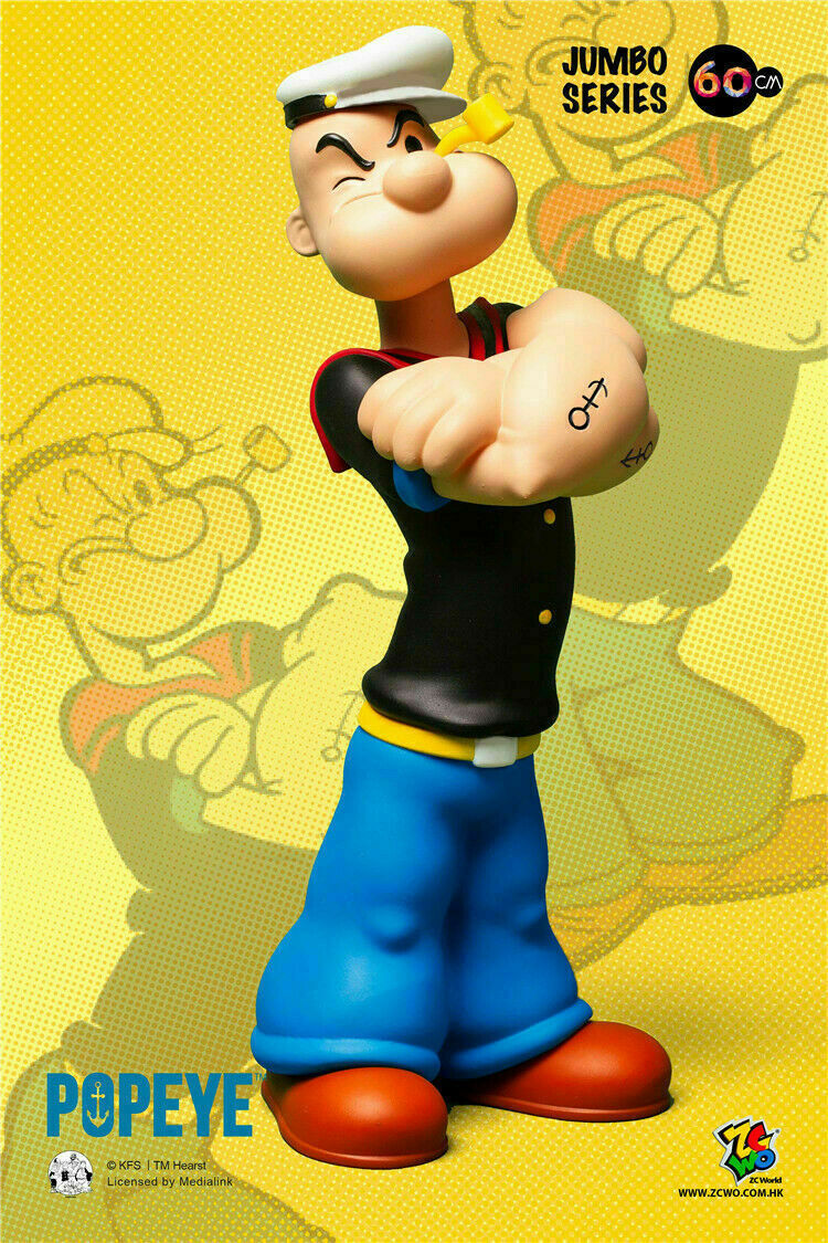 ZCWO ZC319 60CM Popeye 90th 90th 90th anniversary Limited Edition Sailor PVC Figure Toys 89520a