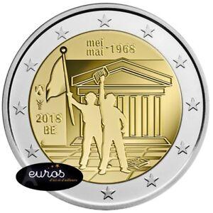 Piece-2-euros-commemorative-BELGIQUE-2018-50eme-anniversaire-mai-1968-UNC