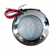 2 x Caravan 12 White LED Interior / Exterior Waterproof Lights 2W 240LM 12~28VDC