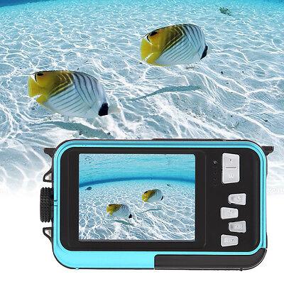 Double LCD Screen HD 1080P 24MP 16x Digital Zoom Dive Camera DV Video Waterproof