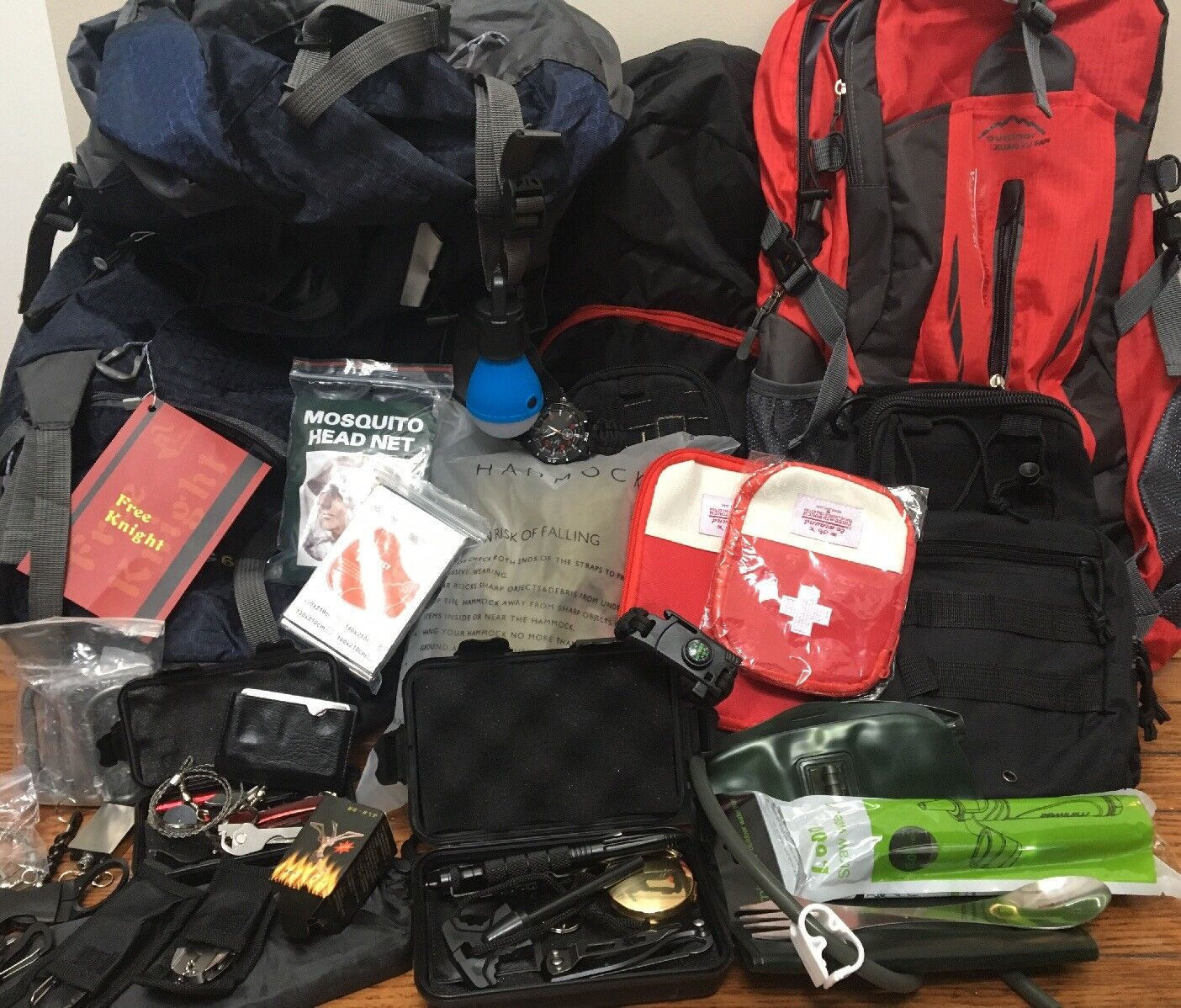 Large Bundle of  NEW Camping Hiking Equipment And Gear  welcome to order