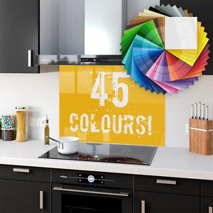 75x90 Cm Splashback Tempered Glass Kitchen Bathroom Heat Resist Various Colours by Ebay Seller