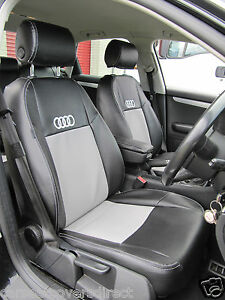 Image Is Loading AUDI A4 B8 Black And Grey CAR SEAT
