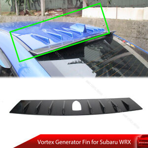 Painted Rear Roof Spoiler Vortex Generator Shark Fin For Wrx Sti Sedan Ebay