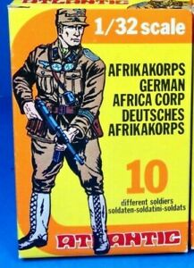 Atlantique 1/32 - Wwii North Africa 2108 Allemand Afrika Korps - Vintage Box Jaune