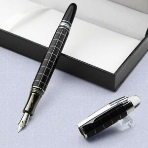 Hot-Silver-Line-Busine-Office-Medium-Fuellfederhalter-Fountain-Pen-Neu-Sale-Nett