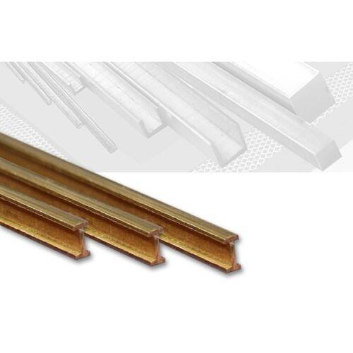 Messing I-Profil 8,0 x 4,0 mm Länge 100 cm, gefräst