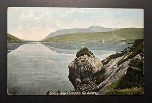 Comme neuf Vintage étudiaient Bay Leenane Co Galway Ireland Real Photo postcard