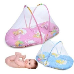 US-Portable-Foldable-Baby-Kids-Infant-Bed-Dot-Zipper-Mosquito-Net-Tent-Crib
