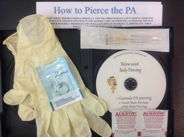 Prince Albert 2mm Pa Body Piercing Kit Dvd Professional Quality