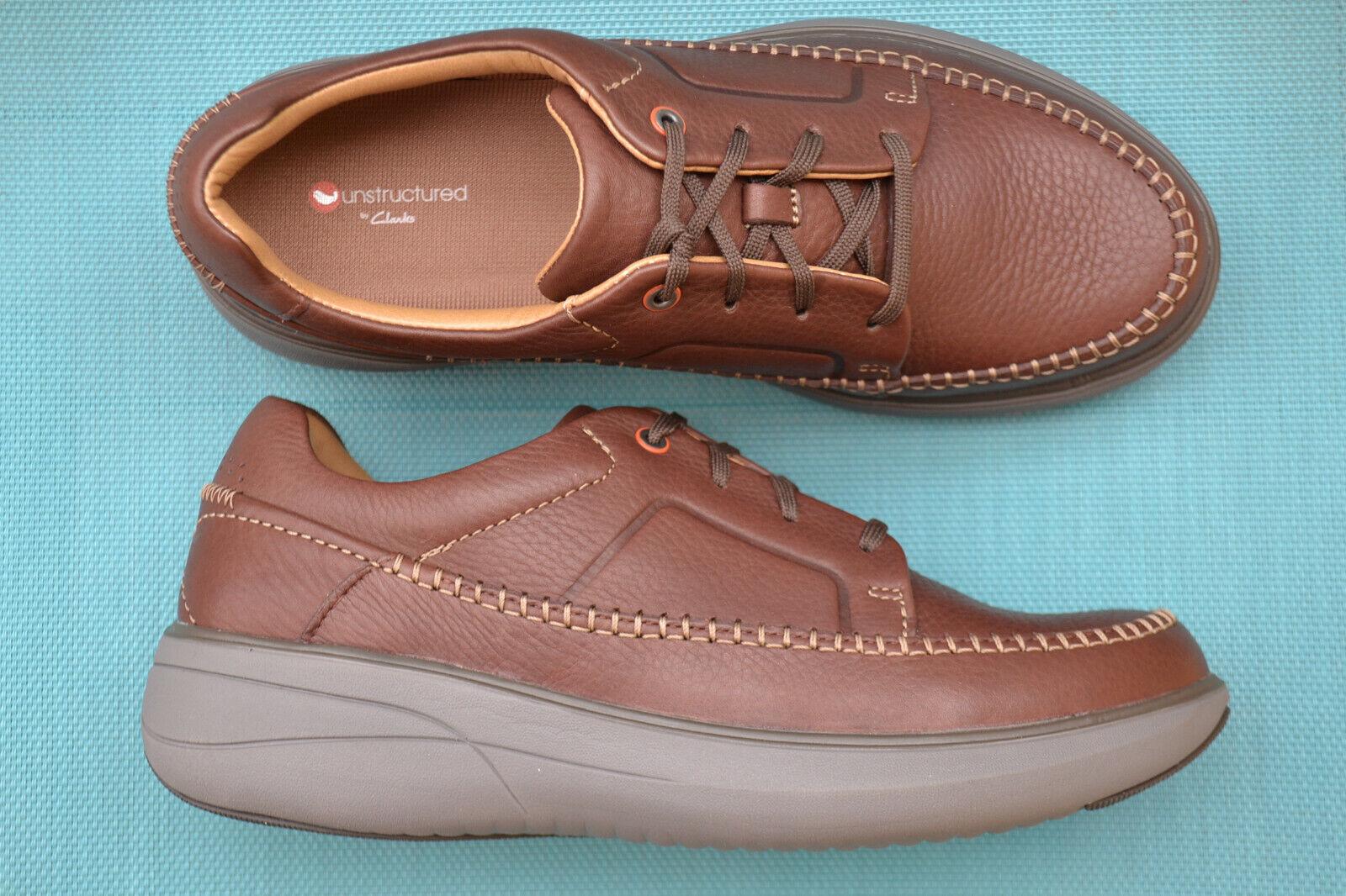 Clarks BNIB Mens Casual Shoes UN RISE LACE Mahogany Leather UK 7 / 41
