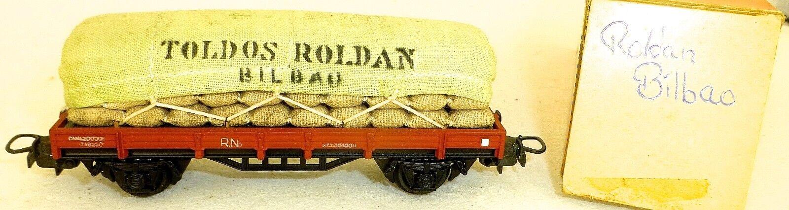 RN Toldos Roldan Bilbao offener Güterwagen Electrotren H0 1 87 å    Vielfalt