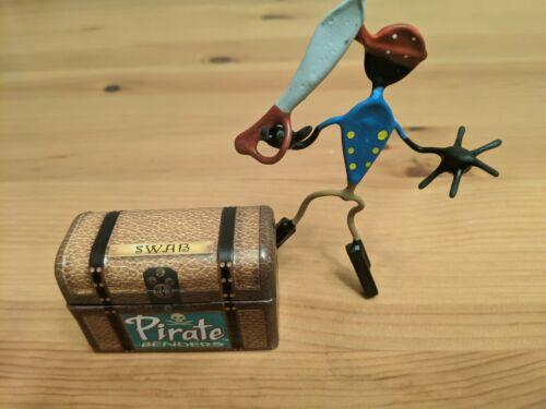 """Pirate BENDER /""""tampon/"""" Magnétique Figure avec coffre-Themed Tin Amusant objet!"""