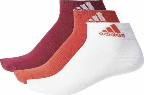 Adidas Women Performance Socks Per Ankle T 3Pair Training Running Fit BS1707