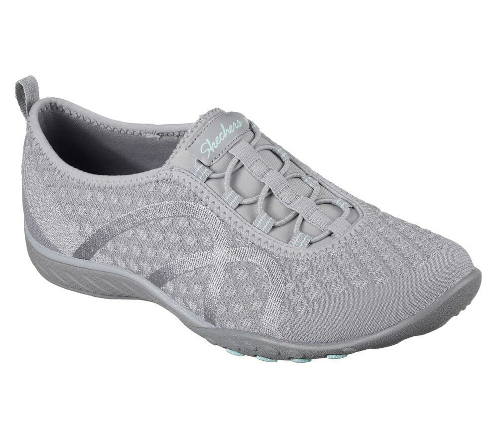 NEU SKECHERS Damen Sneakers Turnschuh Grau Memory Foam BREATHE-EASY FORTUNEKNIT Grau Turnschuh 628e40