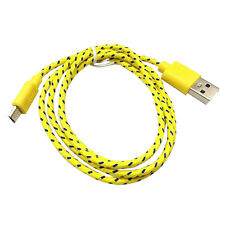 2M Gelb Datenkabel Ladekabel Micro USB Kabel Samsung HTC LG Sony Nylon Kordel