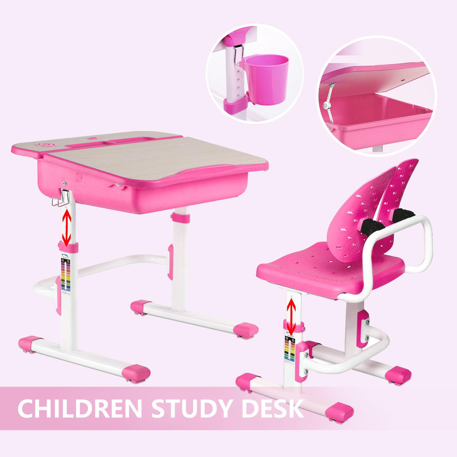 Adjustable Children S Study Table Desk Chair Set Child Kid