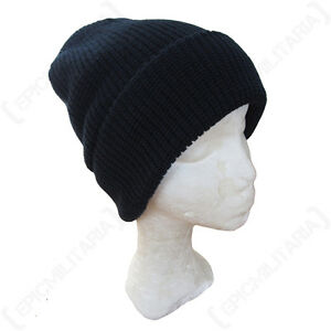 17a717a8f Details about Navy Blue Winter Watch Cap - Thick Knitted Beanie Outdoor  Military Army Hat