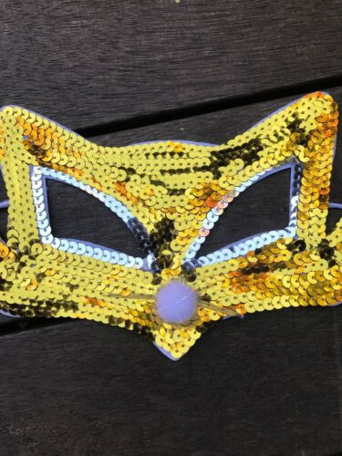 Women Children Sequins Fox Wolf Animal Costume Party Fancy Dance Eye Face Mask