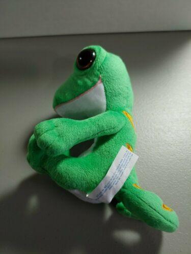 "GEICO GECKO 5/"" PLUSH STUFFED ANIMAL AS SEEN ON TV AD"