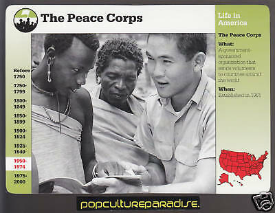 THE PEACE CORPS Picture History CARD Tanganyika Africa