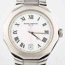 Men's Baume & Mercier Stainless Steel Riviera Quartz Watch w/ Date Feature