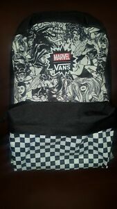 5d3641d06d31a8 Image is loading VANS-MARVEL-WOMEN-Backpack-Black-White-Back-pack-