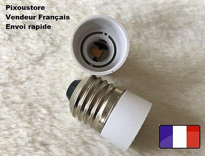 Lot de 2 adaptateurs douille G9 male E14 femelle pour ampoule culot neuf