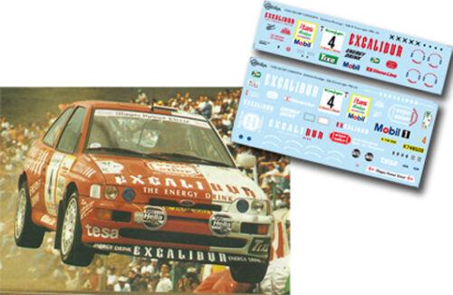 C128 Decal 1:43 Kurt Gottlicher FORD ESCORT COSWORTH Rally El Corte Ingles 1996