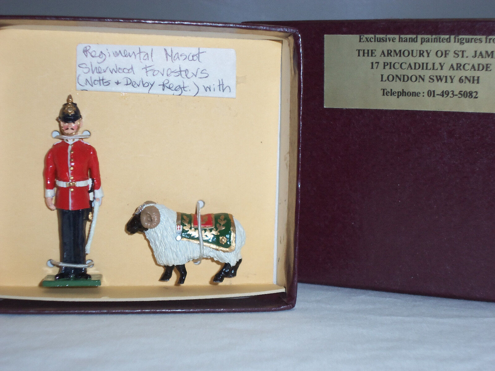 S mascotte  S miniatures HRW1 Sherwood Foresters régiHommes taire mascotte S METAL TOY SOLDIER SET ac8b26
