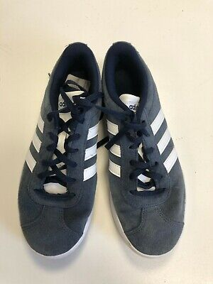 N654 BOYS JUNIOR ADIDAS BLUE WHITE SUEDE LACE UP TRAINERS UK SIZE 4 EU 36 2/3 | eBay