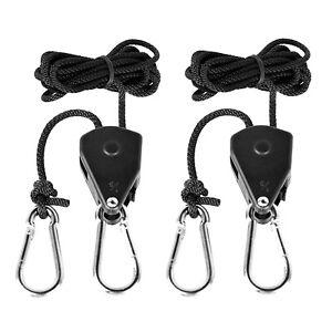 "1//8/"" Rope Ratchet Hanger For LED Grow Lamp Light Fan Carbon Filter Hydroponic GA"