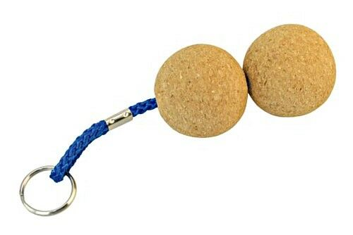 Floatable Key Ring Tag with 2 Cork Balls 50mm