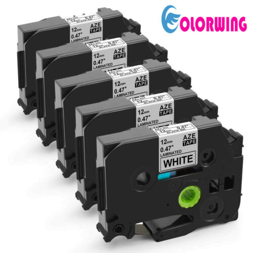 5 PK TZe 231 tz tape Compatible Brother P Touch Label Tape 12mm Black on White