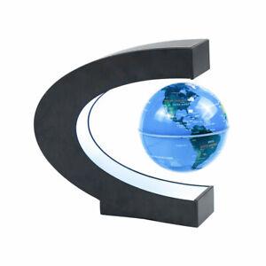 Magnetic Levitation Rotating World Map Floating Globe Anti Gravity w/ LED Lamp