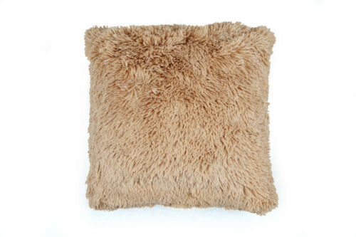 Faux Fur 2 sided cosy Shaggy Reversible Cushion Covers or Filled Cushions  45cm