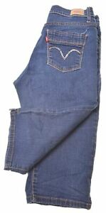 Levi-039-s-Damen-Denim-Shorts-w26-blau-Baumwolle-dt01