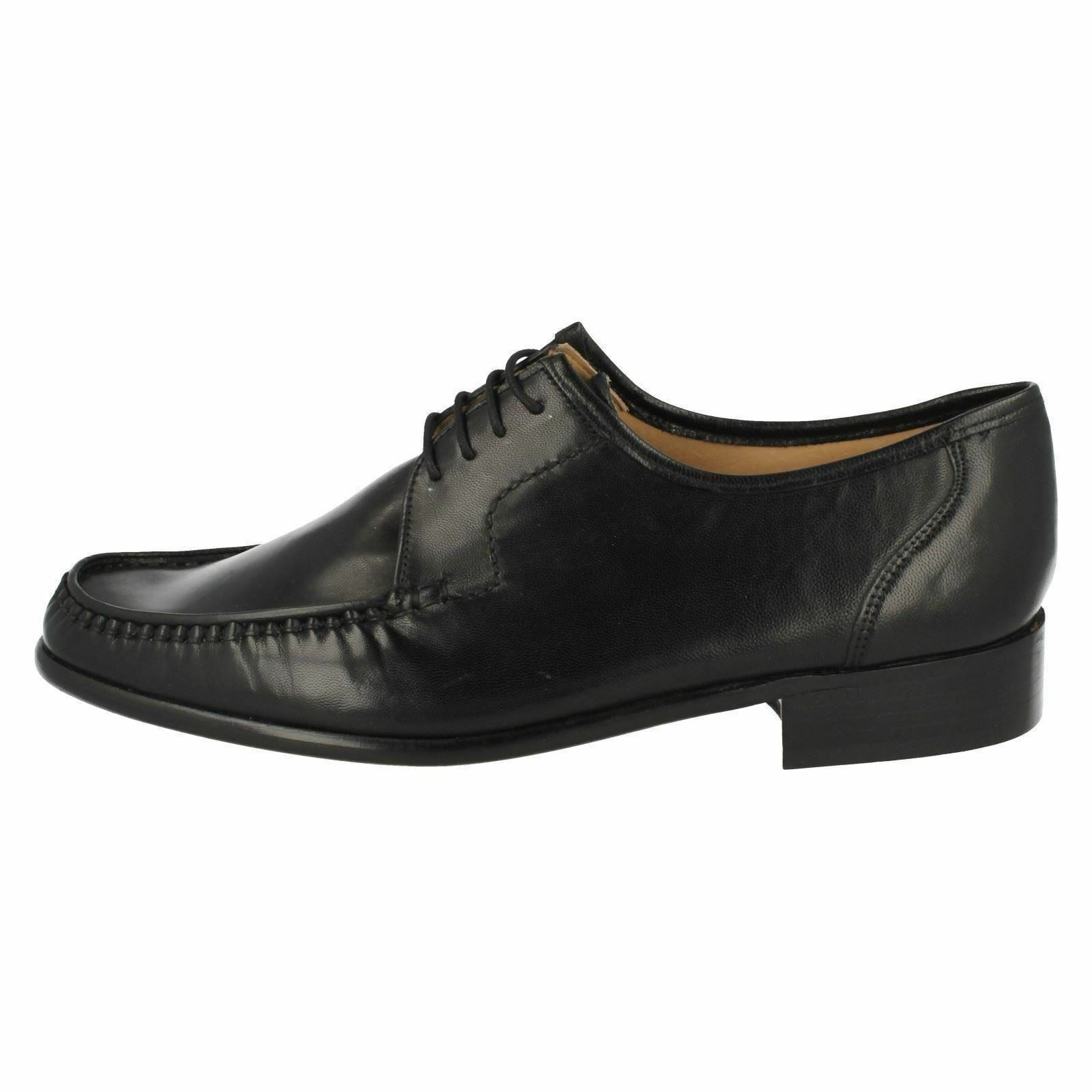 Mens CREWE 33343 g fit Black leather lace-up shoe  by GRENSON