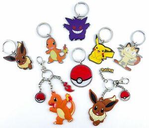 Licensed-Pokemon-Key-Chains-Tomy-Pikachu-Charmander-Eevee-Pokeball-Charms