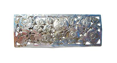 Art Nouveau/Jugendstil Tooled Silver Poppy Brooch - Unsigned - Germany - C. 1900