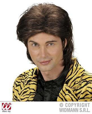 2019 Moda Brown Look Bagnato Maschio Parrucca Pop Star Maschile Modello Anni'80 Fancy Dress-mostra Il Titolo Originale