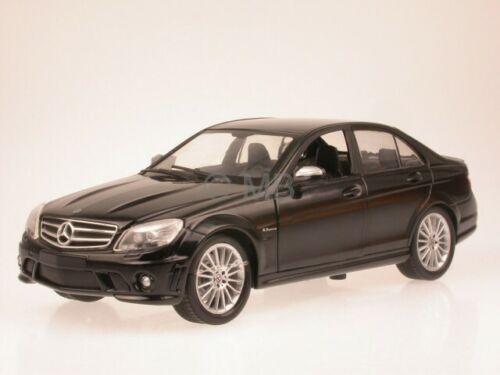 Mercedes W204 C-clase C63AMG negro coche en miniatura NewRay 1//24