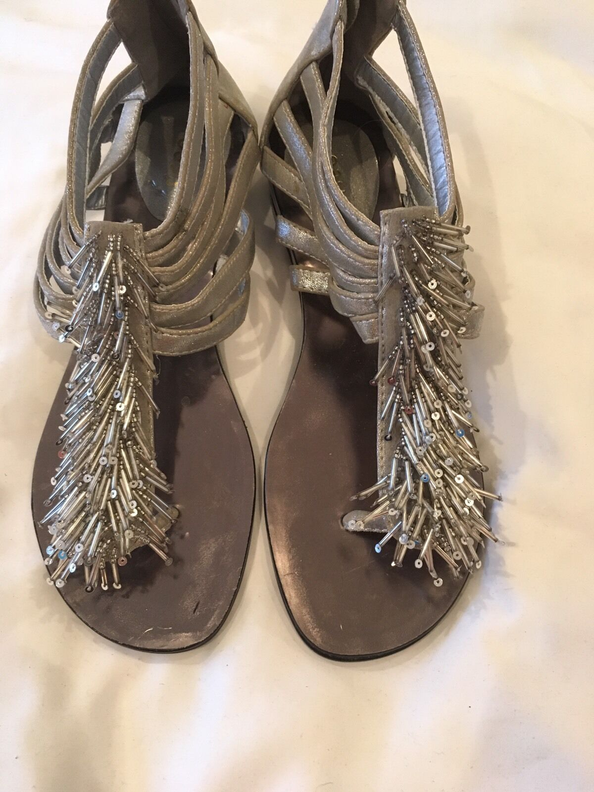 Oasis Beaded Sandals Grey Size 37 New  Grey Sandals Colour new 94dbe1