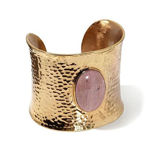 Elements by NEST Feldspar Hammered Yellow Bronze Wide Bracelet Cuff HSN  199