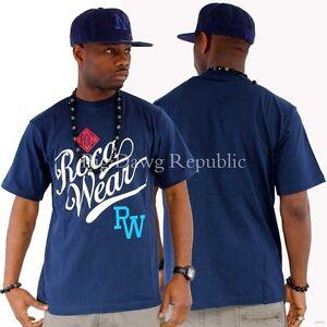 Hip Hop Star Rocawear Men/'s Designer Track Jacket Bar White Time Money Is G