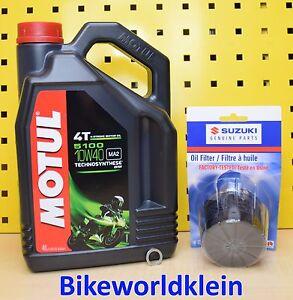 SUZUKI-FILTRO-OLIO-ORIGINALE-MOTUL-5100-10W40-GSX-600-650-750-1200-1250-1300