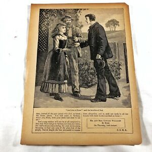 Authentic-Antique-Chatterbox-Magazine-Engraving-On-Paper-1880-1920-s-Old