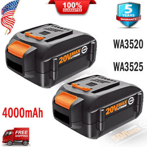 2X-WA3525-WA3520-for-Worx-20V-MAX-Lithium-4-0Ah-WA3732-WA3512-WG151s-WG155s-PACK
