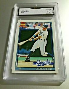 GEORGE-BRETT-HOF-1991-Topps-540-GMA-Graded-10-Gem-Mint